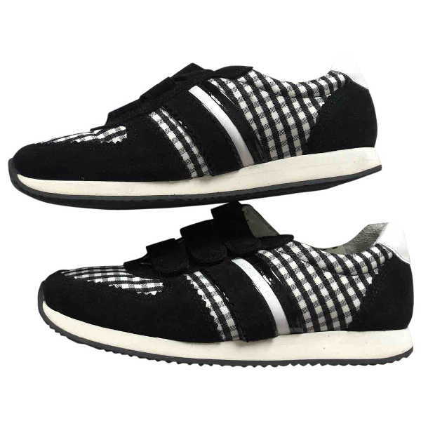 Carven Black Cloth Trainers