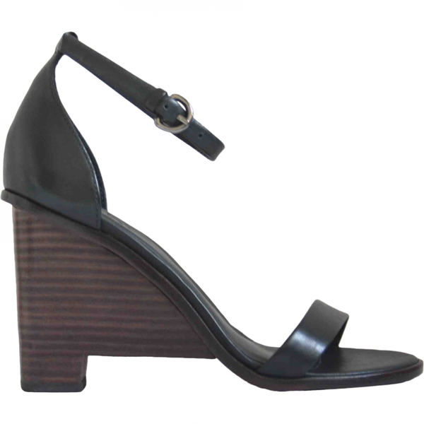 Pre-owned Tibi Black Leather Sandals