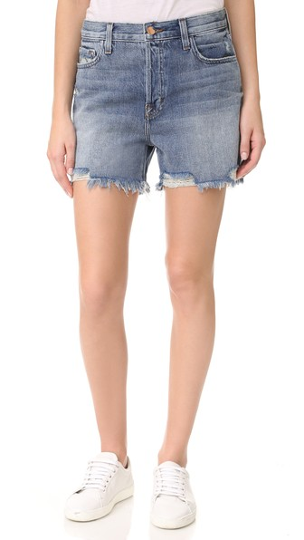 J Brand Ivy High-rise Denim Shorts In Wrecked