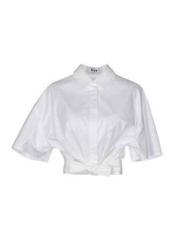 Msgm Shirts In White