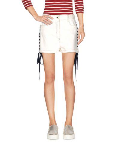 Just Cavalli Denim Shorts In White