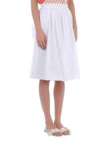 Jil Sander Knee Length Skirt In White