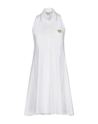 Kenzo Short Dress In White