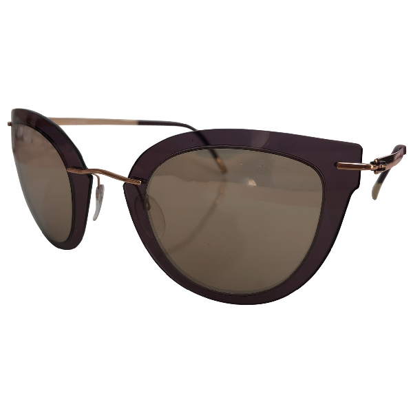 Silhouette Beige Sunglasses