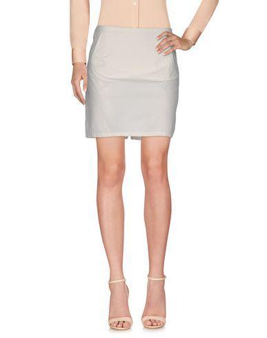 Miu Miu Knee Length Skirt In Ivory