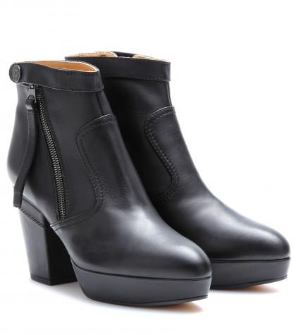 Acne Studios 'Track' Platform Ankle Boot (Women) In Llack
