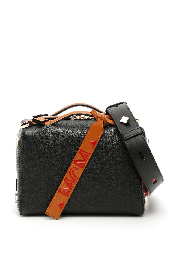 Mcm Milano Leather Boston Bag In Black