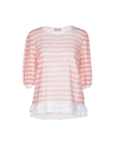 Red Valentino Sweaters In Salmon Pink