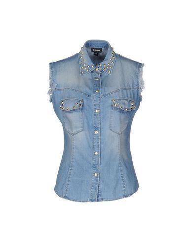 Just Cavalli Denim Shirt In Blue