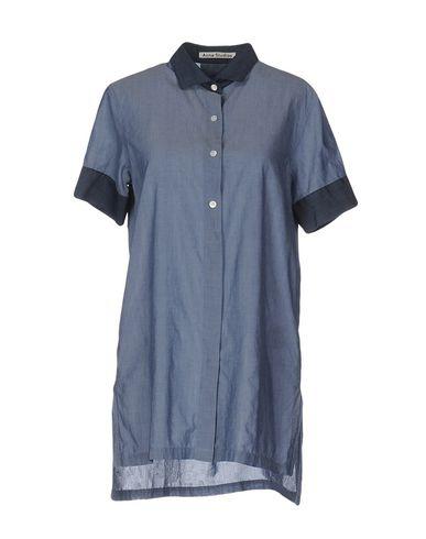 Acne Studios Shirts In Slate Blue