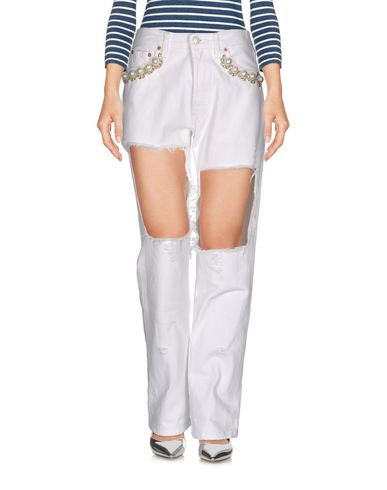 Forte Couture Denim Trousers In White