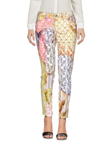 Just Cavalli Casual Pants In Yellow