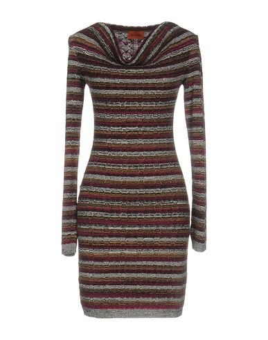 Missoni Short Dresses In Garnet