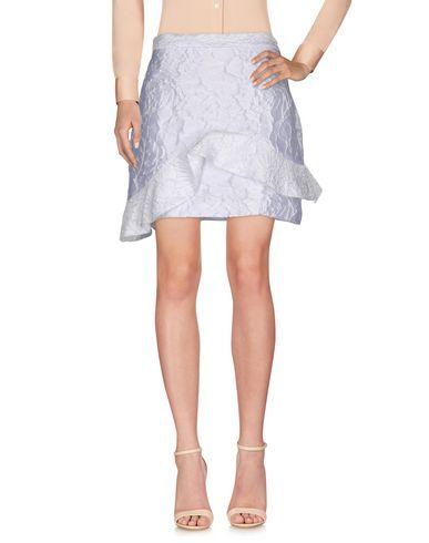 Msgm Knee Length Skirt In White