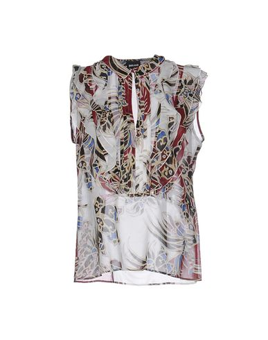 Just Cavalli Patterned Shirts & Blouses In Brick Red