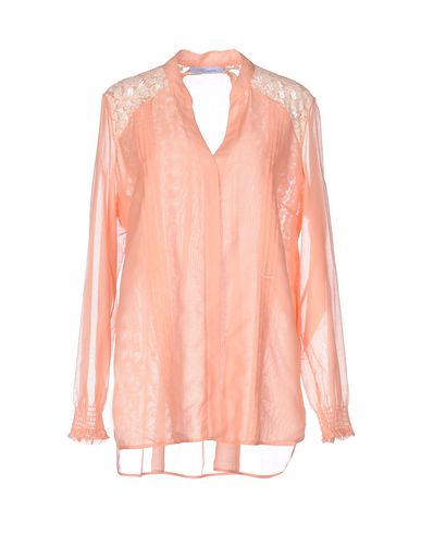Blumarine Lace Shirts & Blouses In Salmon Pink