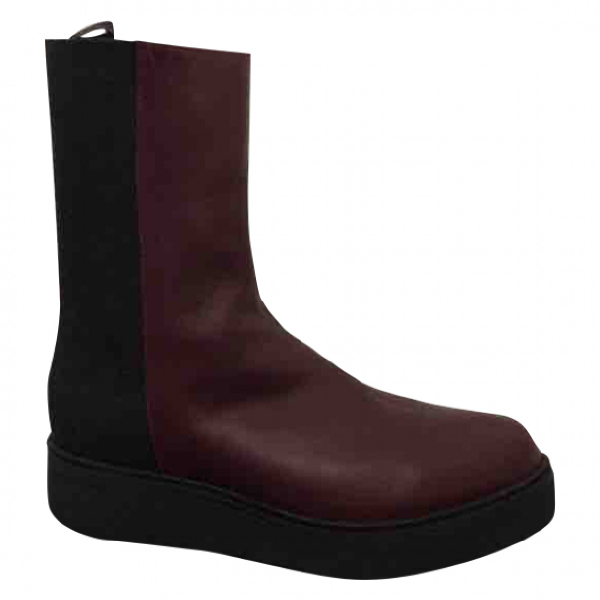Hope Burgundy Leather Boots