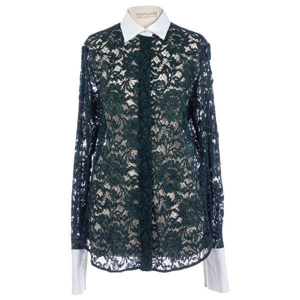 Valentino Green Lace  Top
