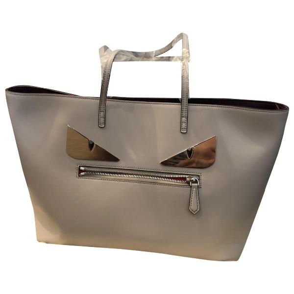 Fendi Roll Bag  Grey Leather Handbag