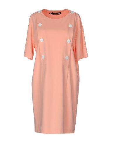 Love Moschino Short Dress In Salmon Pink