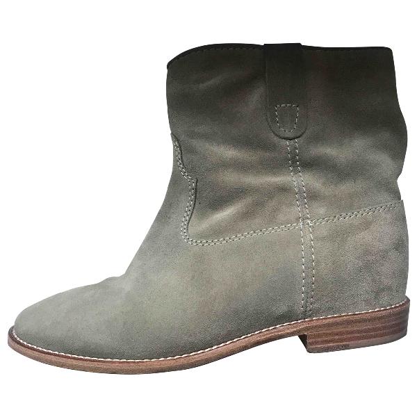 Isabel Marant Crisi  Khaki Suede Ankle Boots