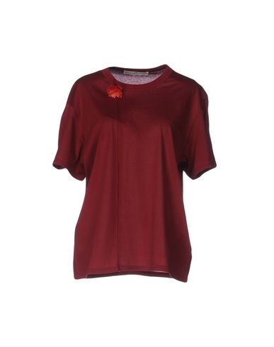 Golden Goose T-shirts In Maroon