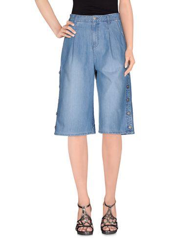 Sjyp Denim Shorts In Blue