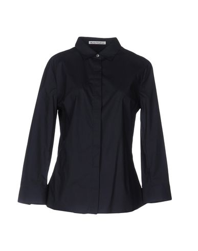 Acne Studios Solid Color Shirts & Blouses In Dark Blue