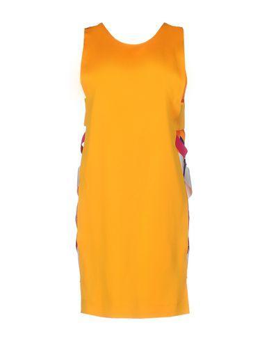 Msgm Short Dresses In Orange