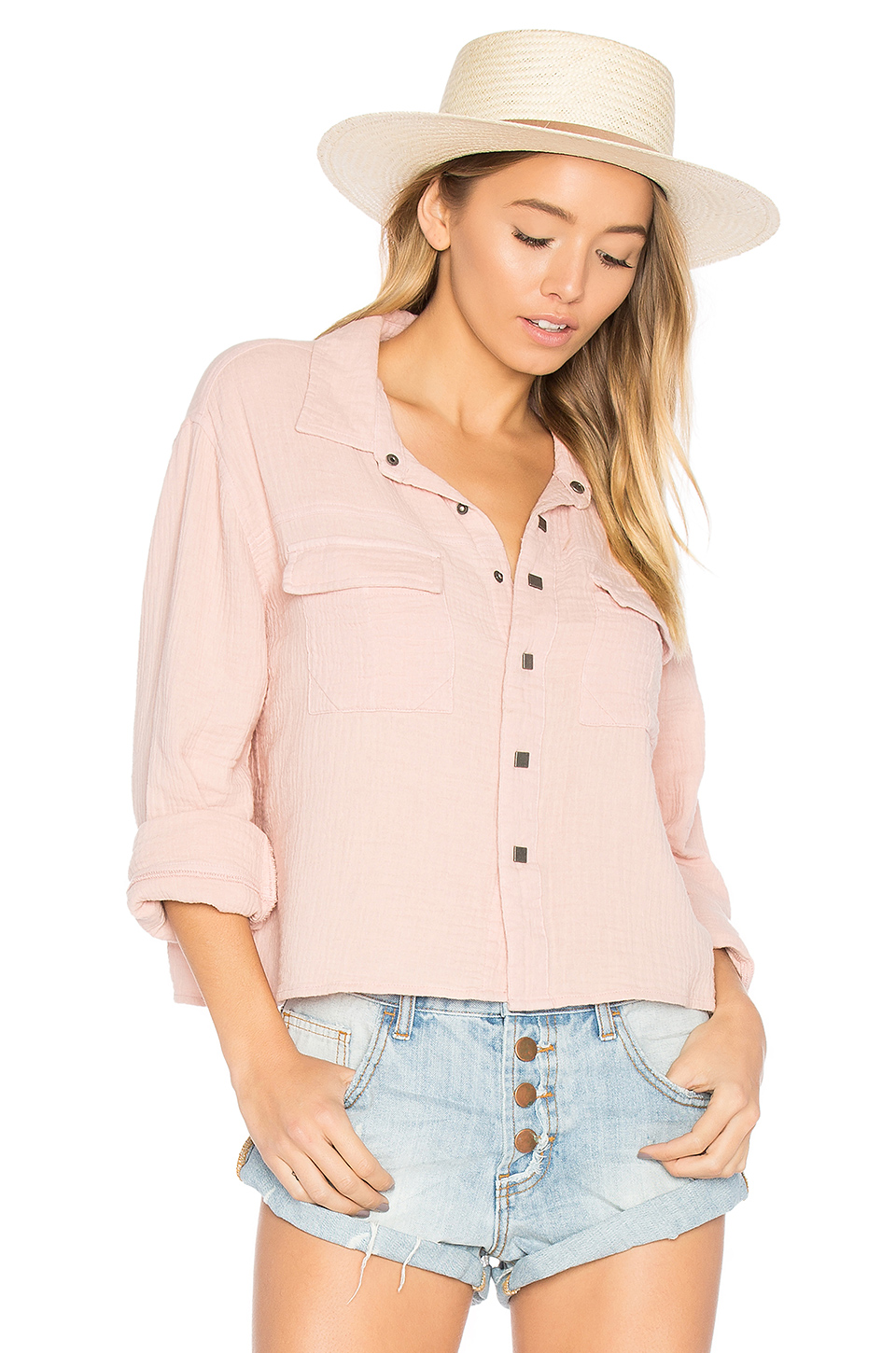 One Teaspoon The Soul Silence Shirt In Pink