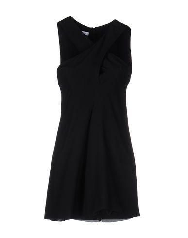 Dondup Short Dress In Black