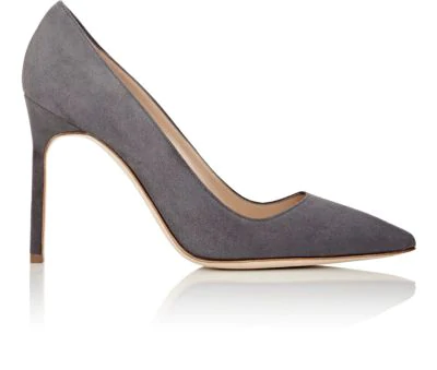 68280e9bb Manolo Blahnik Bb 105Mm Suede Pumps In Grey Suede | ModeSens