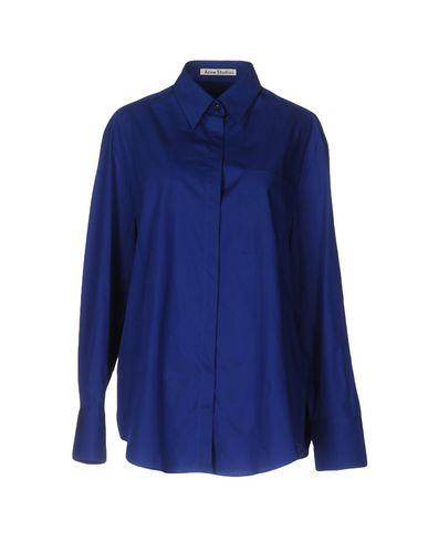 Acne Studios Solid Color Shirts & Blouses In Blue