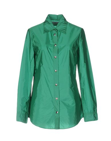 Miu Miu Solid Color Shirts & Blouses In Green