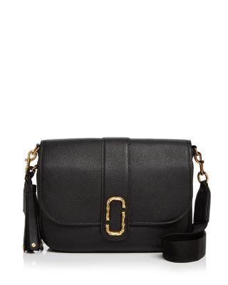 Marc Jacobs Interlock Leather Crossbody Bag - Black