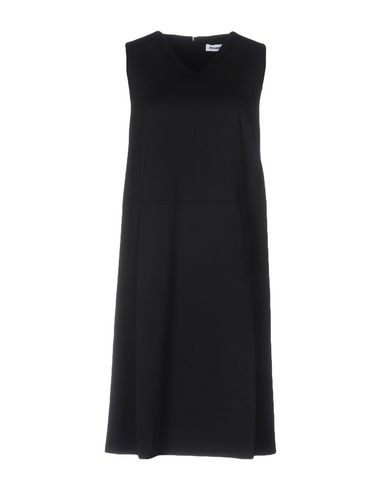 Jil Sander Short Dress In Black
