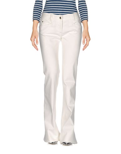 Just Cavalli Denim Pants In Ivory