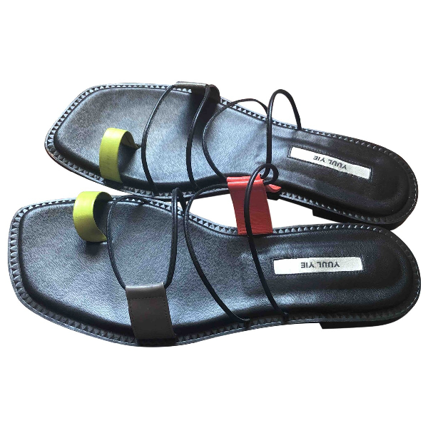 Yuul Yie Green Leather Sandals