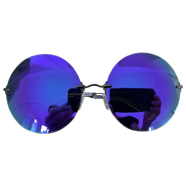 Christopher Kane Purple Metal Sunglasses