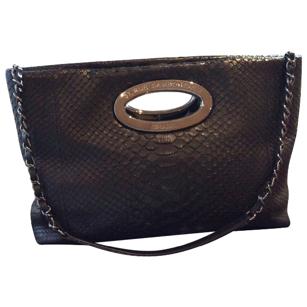 Chanel Black Python Handbag
