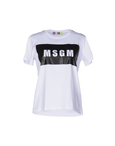 Msgm T-shirts In White