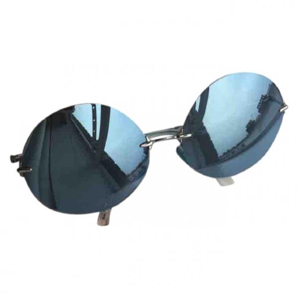 Christopher Kane Blue Metal Sunglasses