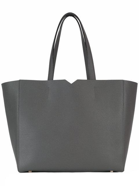Valextra 'v' Tote Bag - Grey