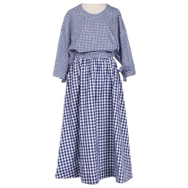 Rosetta Getty Navy Cotton Dress
