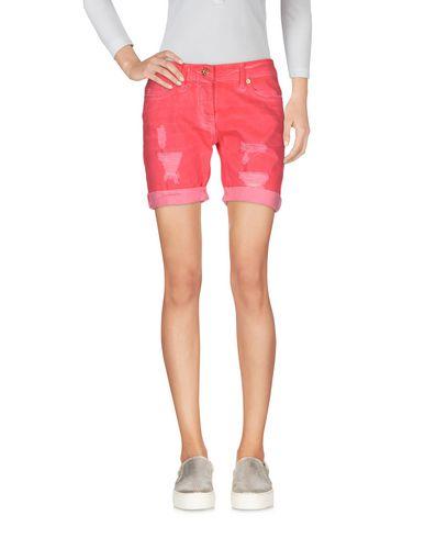 Blumarine Denim Shorts In Coral