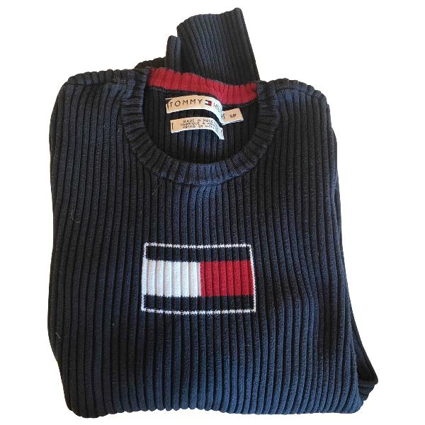 Tommy Hilfiger Navy Cotton Knitwear