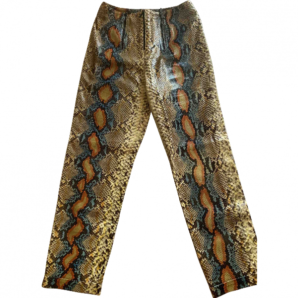 Chanel Multicolour Python Trousers