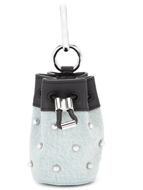 Alexander Wang Mini 'roxy' Studded Keyring Bag