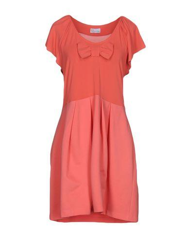Red Valentino Short Dress In Coral