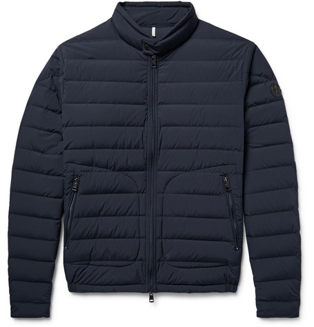 Moncler Acorus Quilted Shell Down Jacket In Midnight Blue